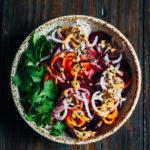 Spicy Root Vegetable Noodle Bowl | Well and Full | #vegan #recipe