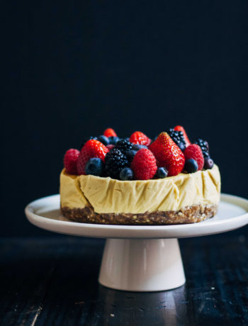 Raw Mango Cheesecake | Well and Full | #raw #vegan #recipe