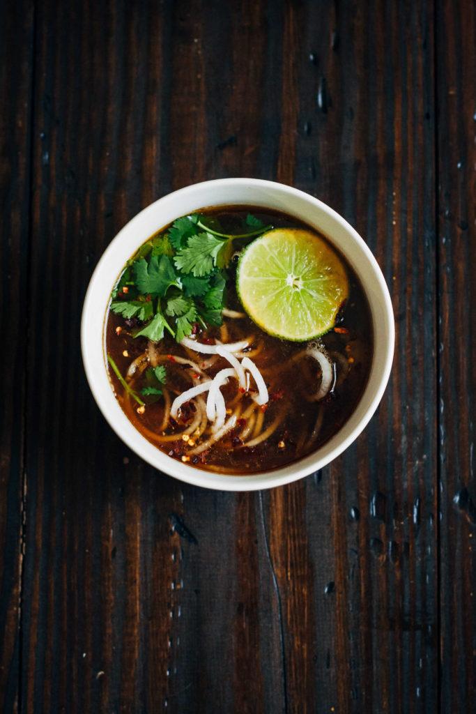 Vegan Pho w/ Daikon Noodles   Well and Full   #vegan #recipe