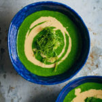 Alkalizing Green Spinach Soup | Well and Full | #vegan #recipe