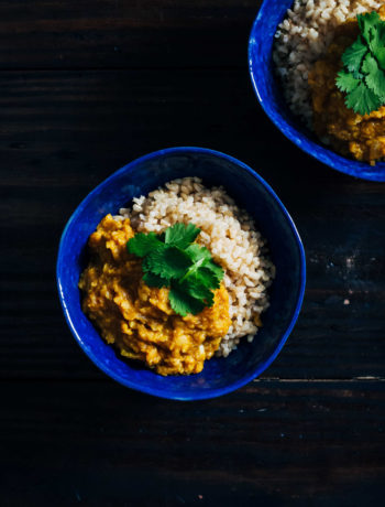 Red Lentil Kitchari | An Ayurvedic Cleanse | Well and Full | #vegan #ayurveda