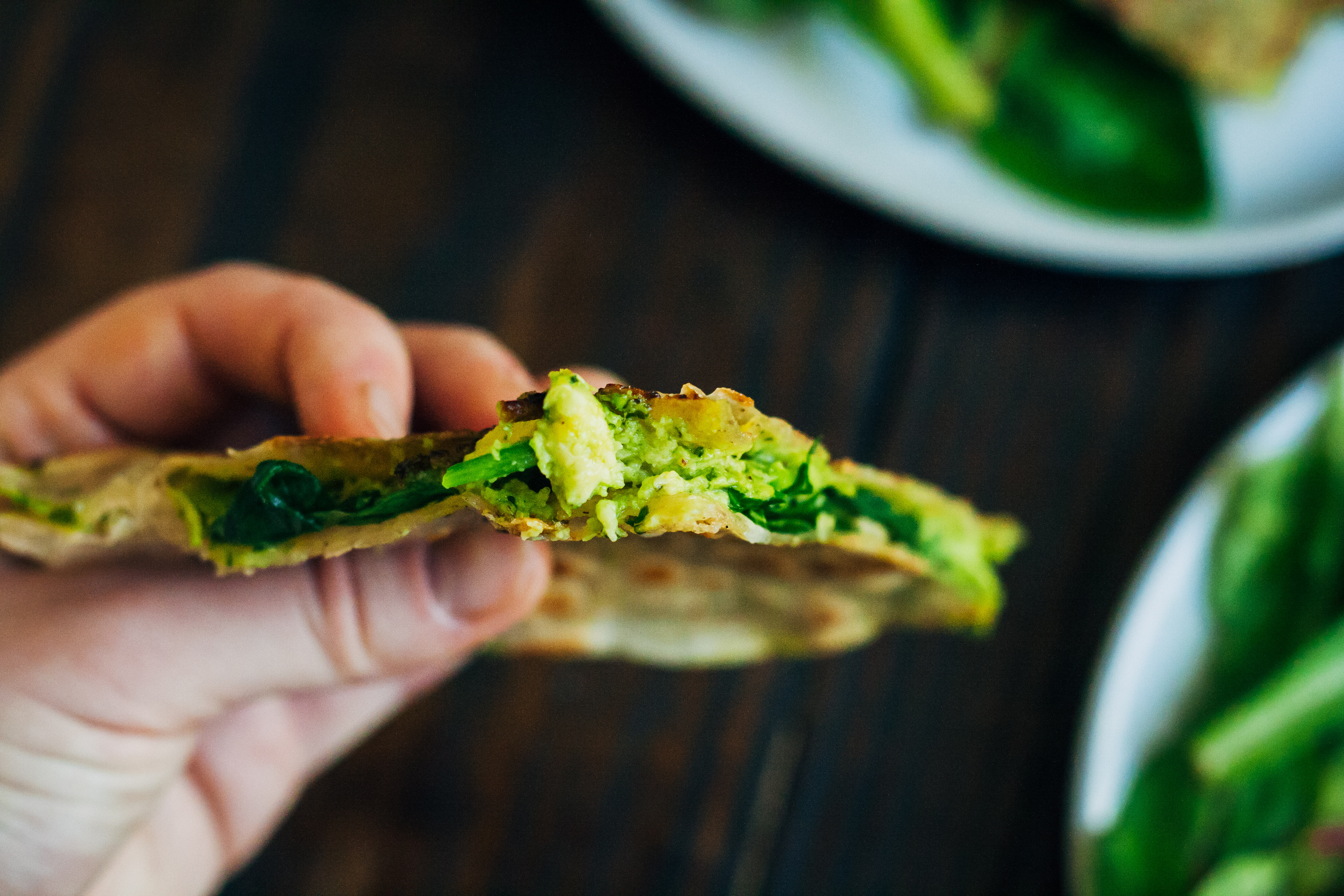 Green Goddess Quesadillas | Well and Full | #vegan #glutenfree #recipe