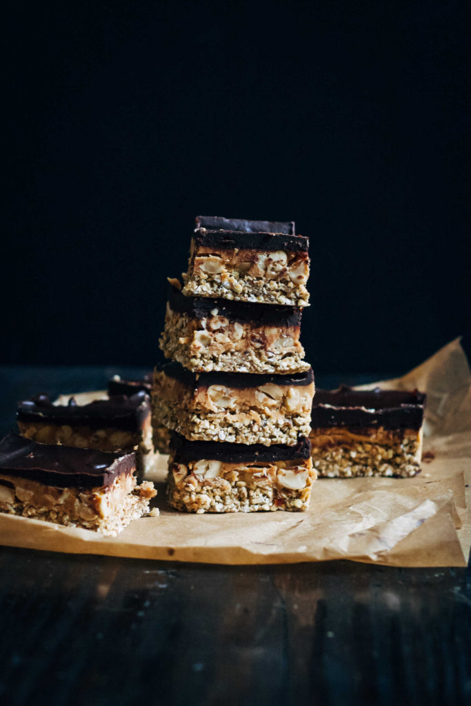 Raw Snickers Slice | Well and Full | #vegan #recipe