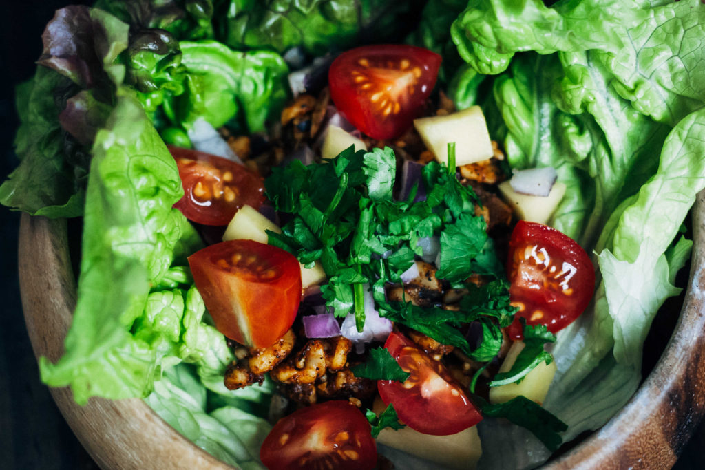 Almost Raw Vegan Tacos   Well and Full   #vegan #recipe