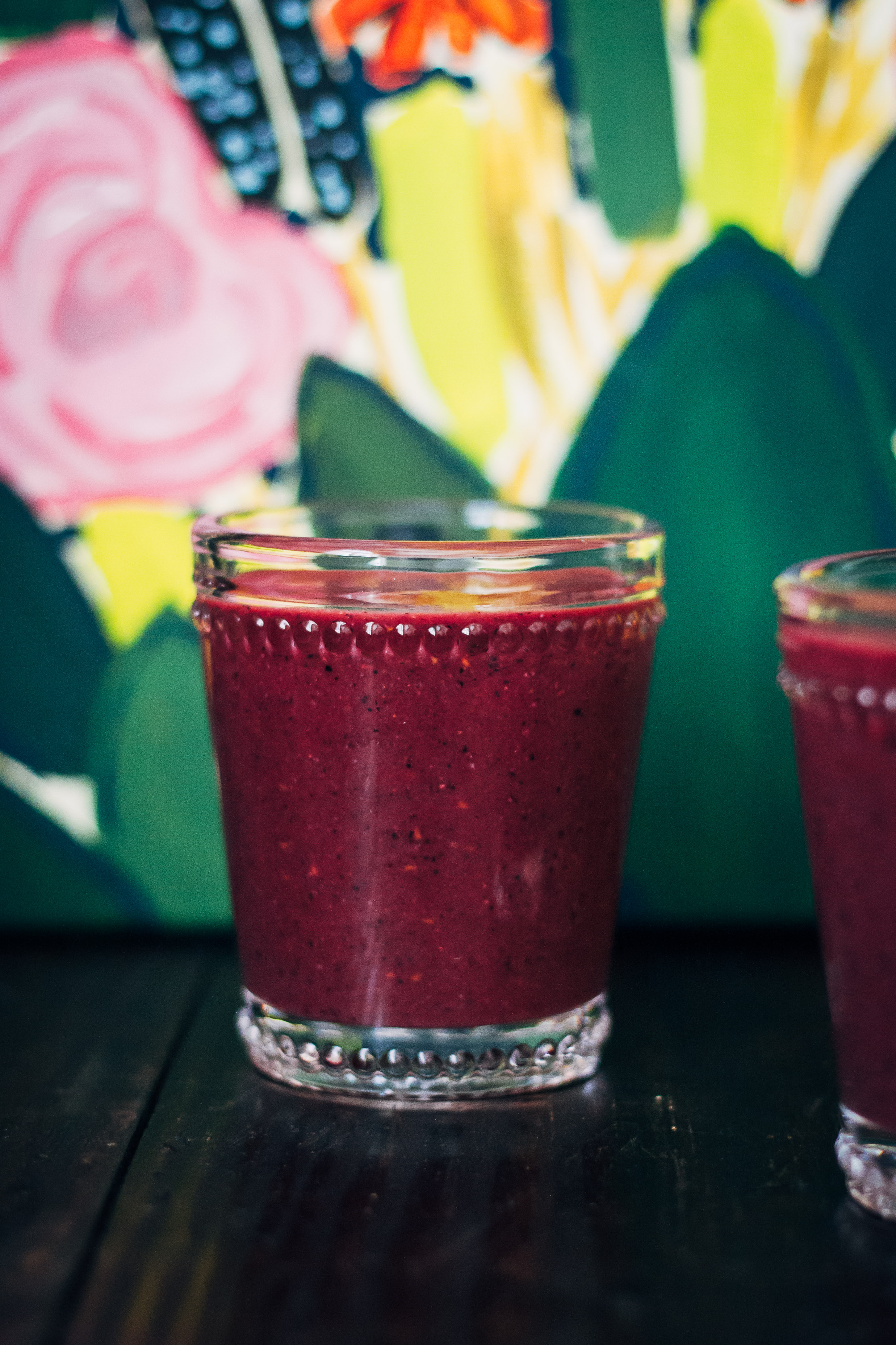 Fabulous Fiber Smoothie | Well and Full | #vegan #smoothie #recipe