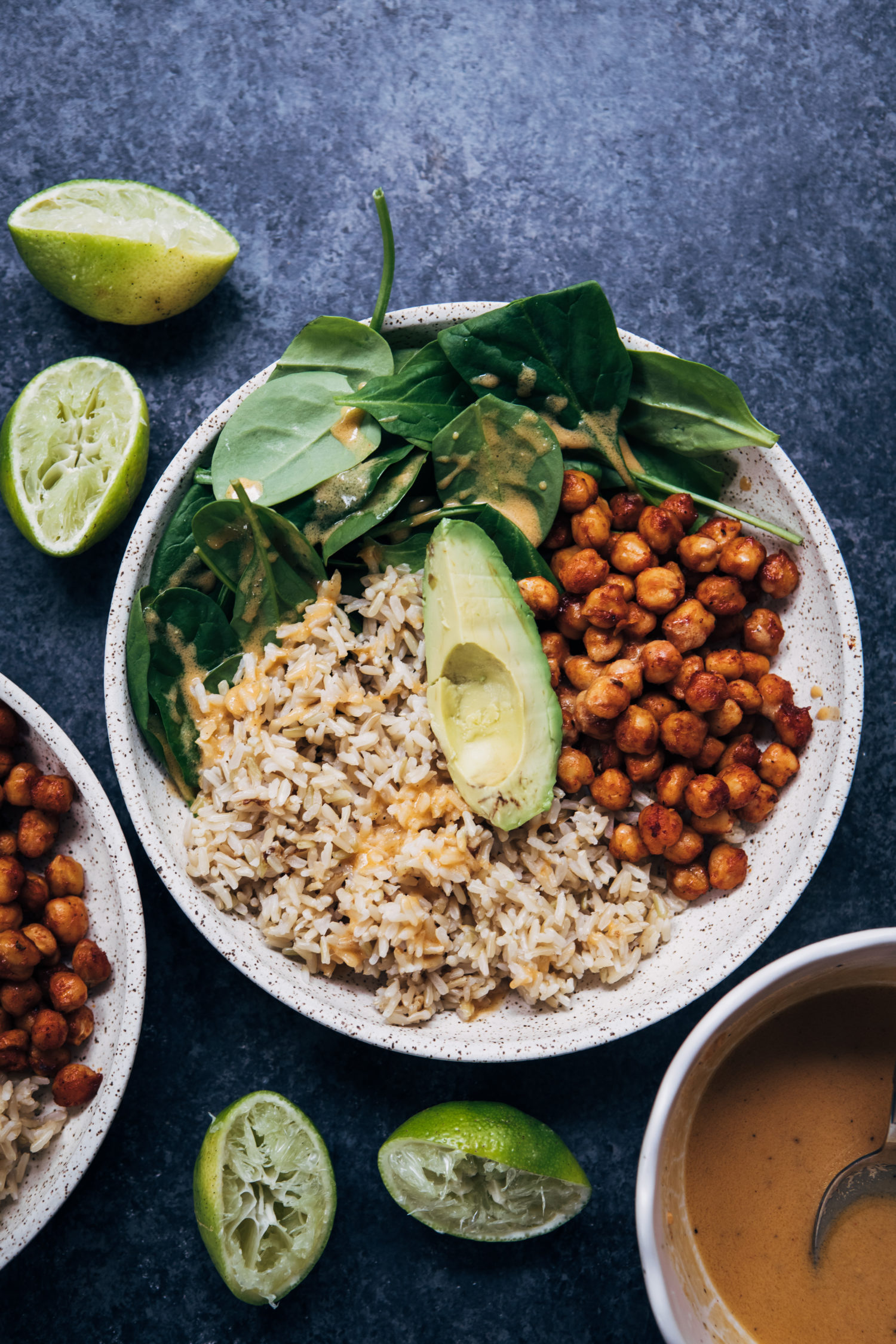 Barbecue Chickpea Rice Bowl | Well and Full | #vegan #recipe