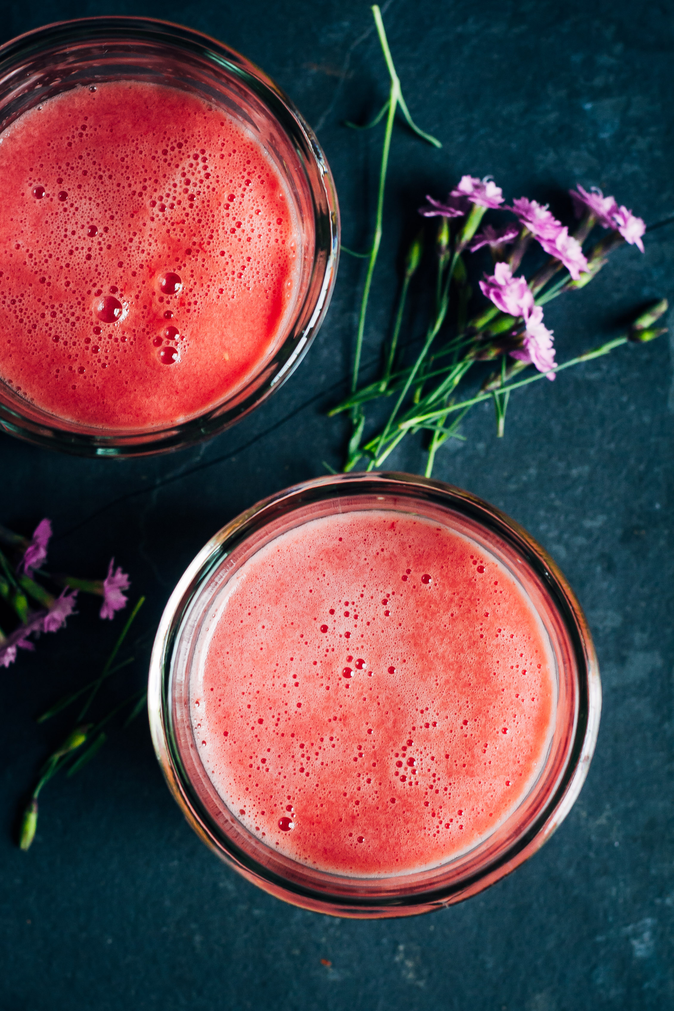 Watermelon Aloe Juice | Well and Full | #vegan #aloe #juice
