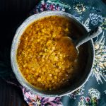 Red Lentil Soup | Well and Full | #vegan #soup #recipe