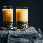 Peach Bubble Tea | Well and Full | #vegan #bubble #tea #recipe