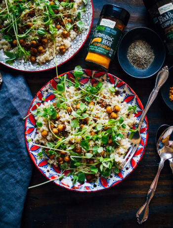 Turmeric Chickpeas w/ Lime Couscous | Well and Full