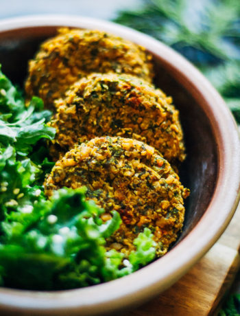 Winter Kale Falafel | Well and Full | #vegan #falafel #recipe