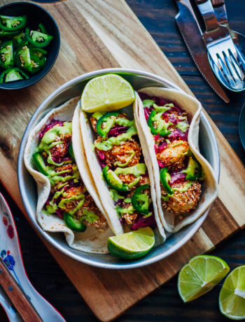 Cauliflower Tacos from The Blissful Basil Cookbook | Well and Full
