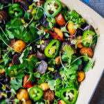 Southwestern Roasted Potato Hash | Well and Full | #vegan #recipe