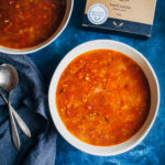 Moroccan Lentil Soup | Well and Full | #vegan #soup #recipe