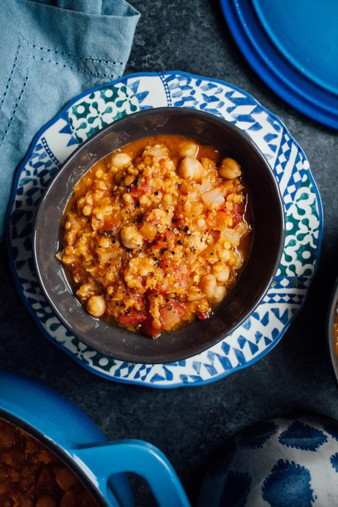 Moroccan Lentil Stew | Well and Full | #vegan #recipe