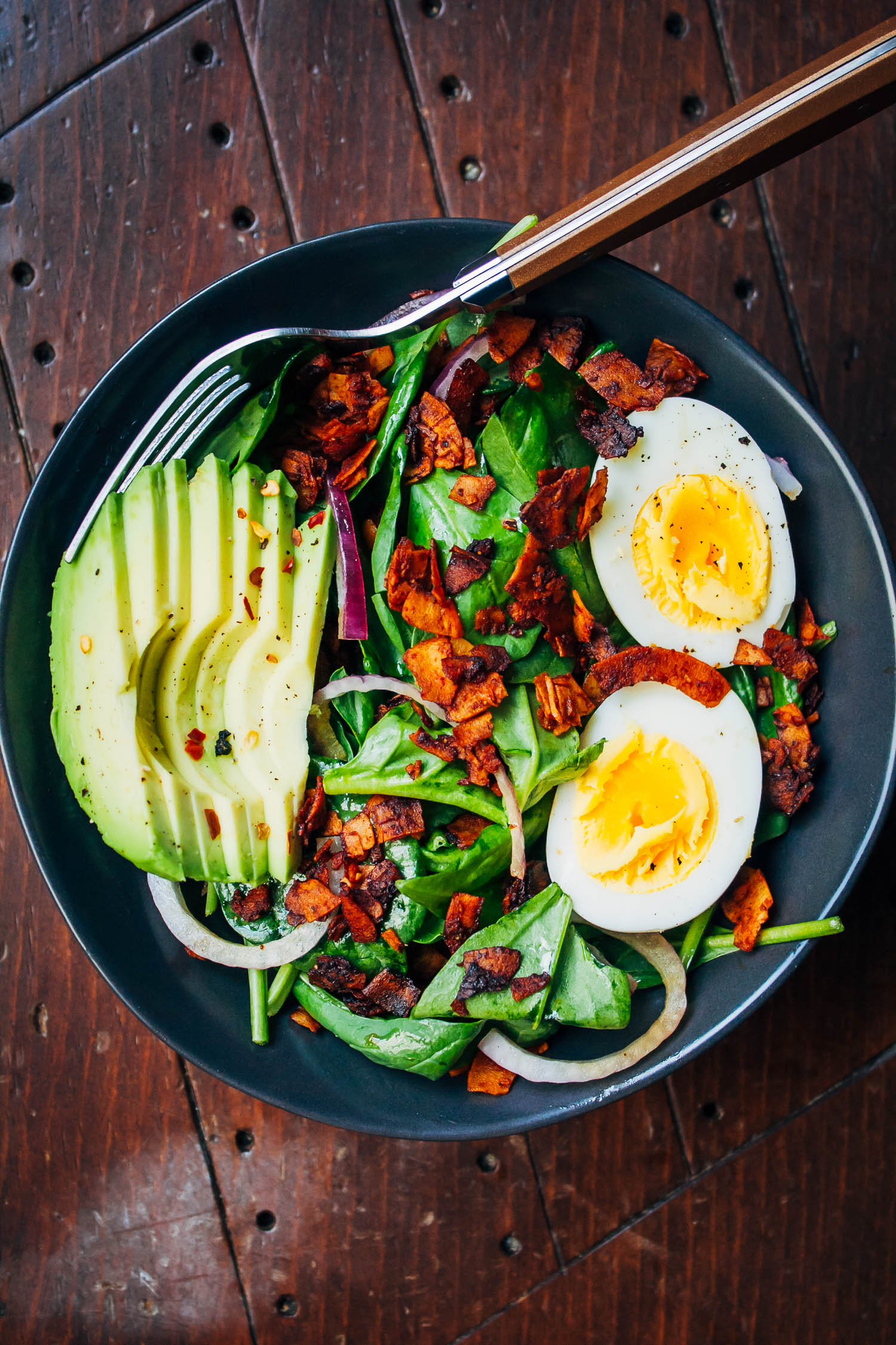 Vegetarian Breakfast Salad | Well and Full | #vegetarian #recipe