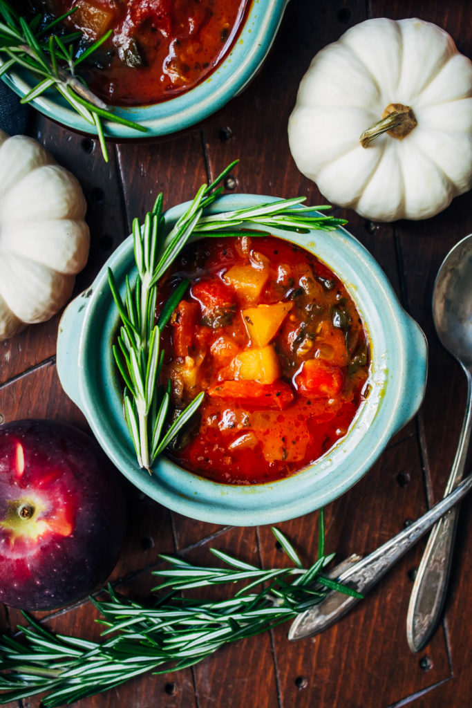 Autumn Pumpkin Kale Apple Stew | Well and Full