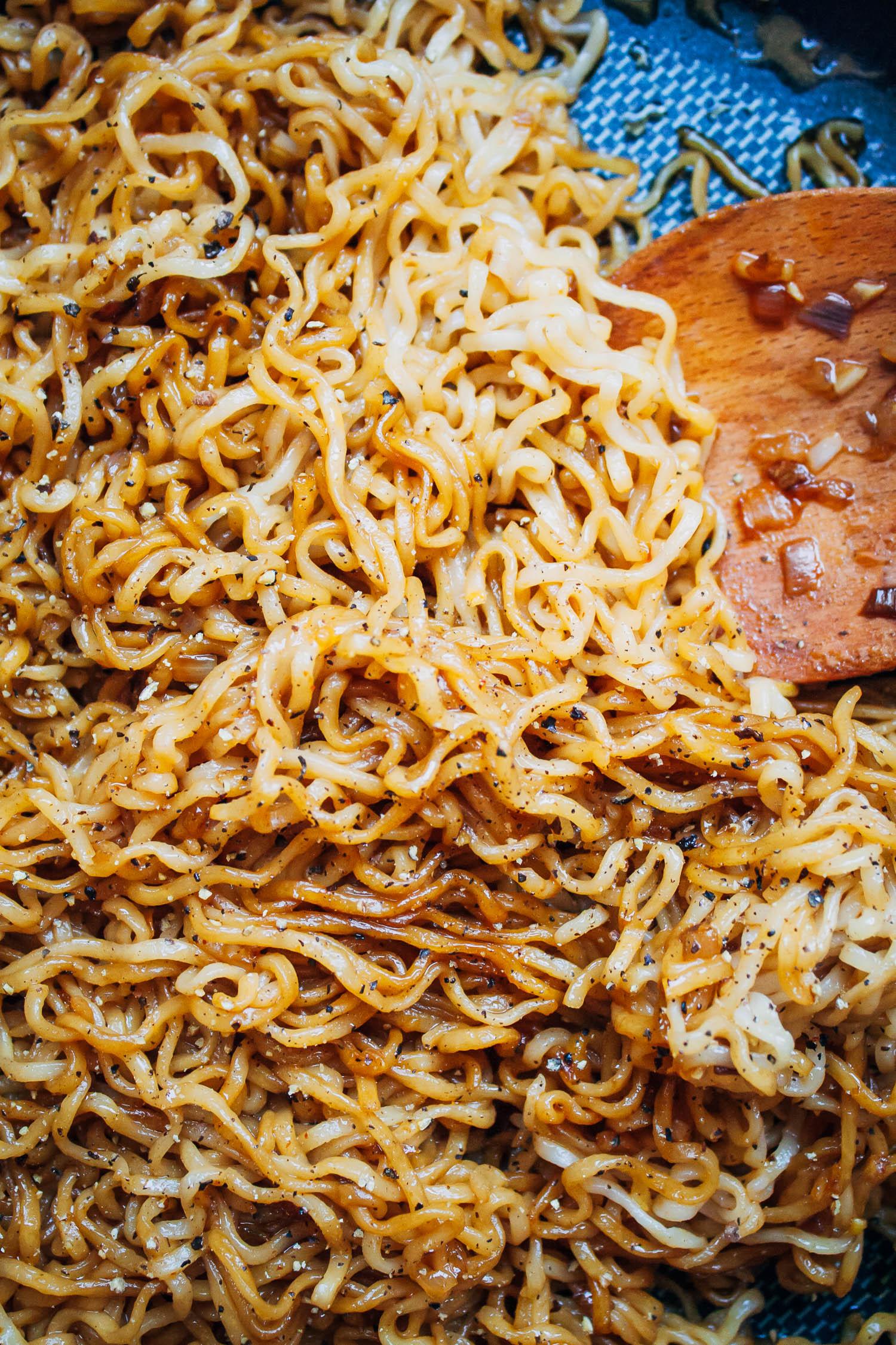 Spicy Tamari Ramen Noodles   Well and Full   #vegetarian #recipe
