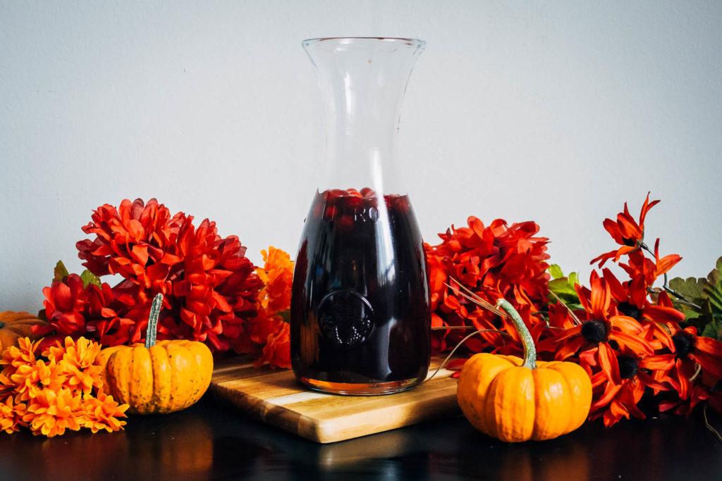A Festive Fall Sangria | Well and Full | #wine #autumn #recipe