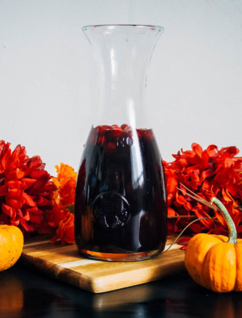 A Festive Fall Sangria | Well and Full | #wine #autumn #recipe