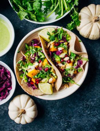 Epic Pumpkin Tacos | Well and Full | #vegan #vegetarian #recipe