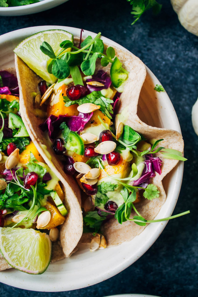 Epic Pumpkin Tacos | Well and Full | #vegan #vegetarian #recipe