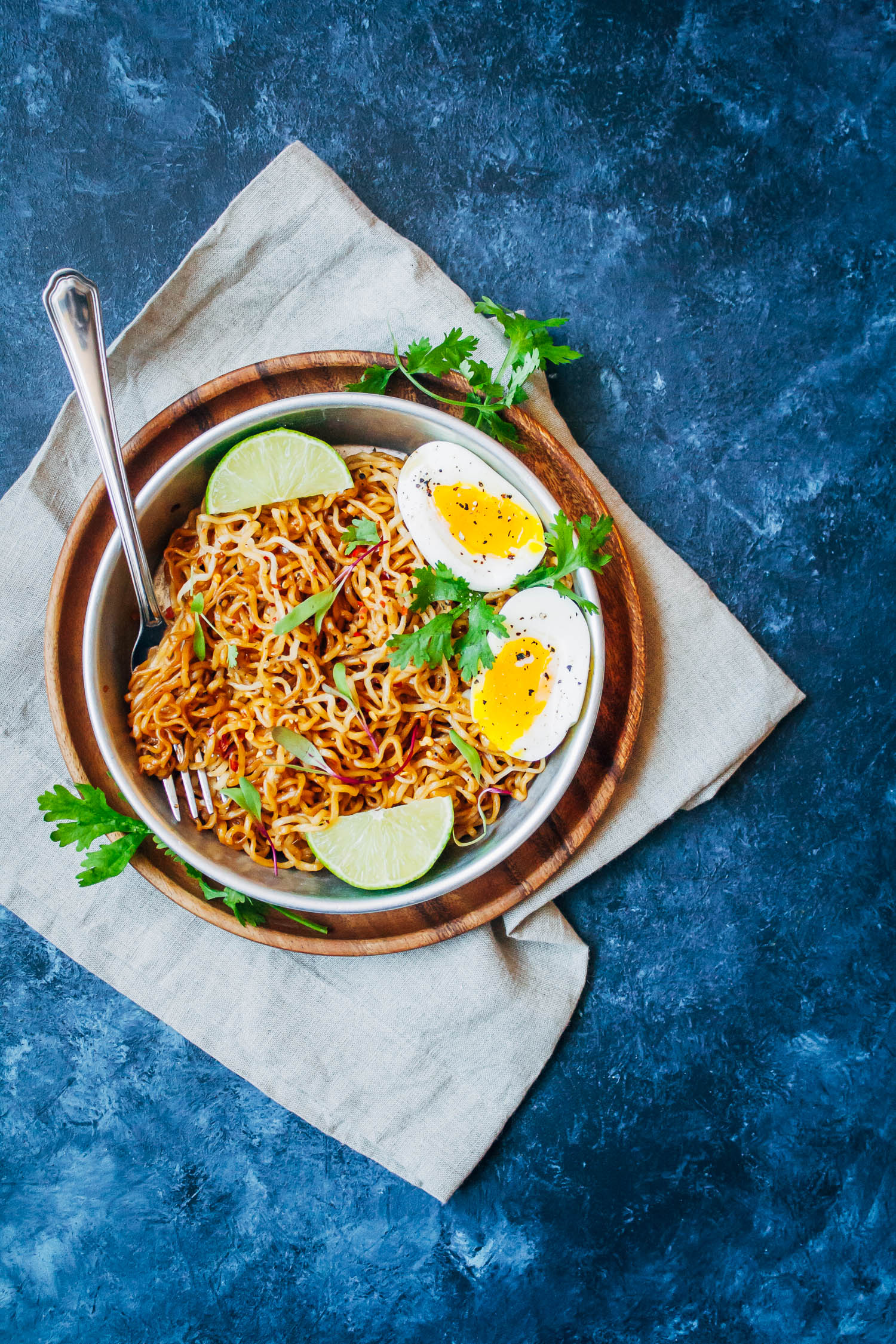 Spicy Tamari Ramen Noodles | Well and Full | #vegetarian #recipe