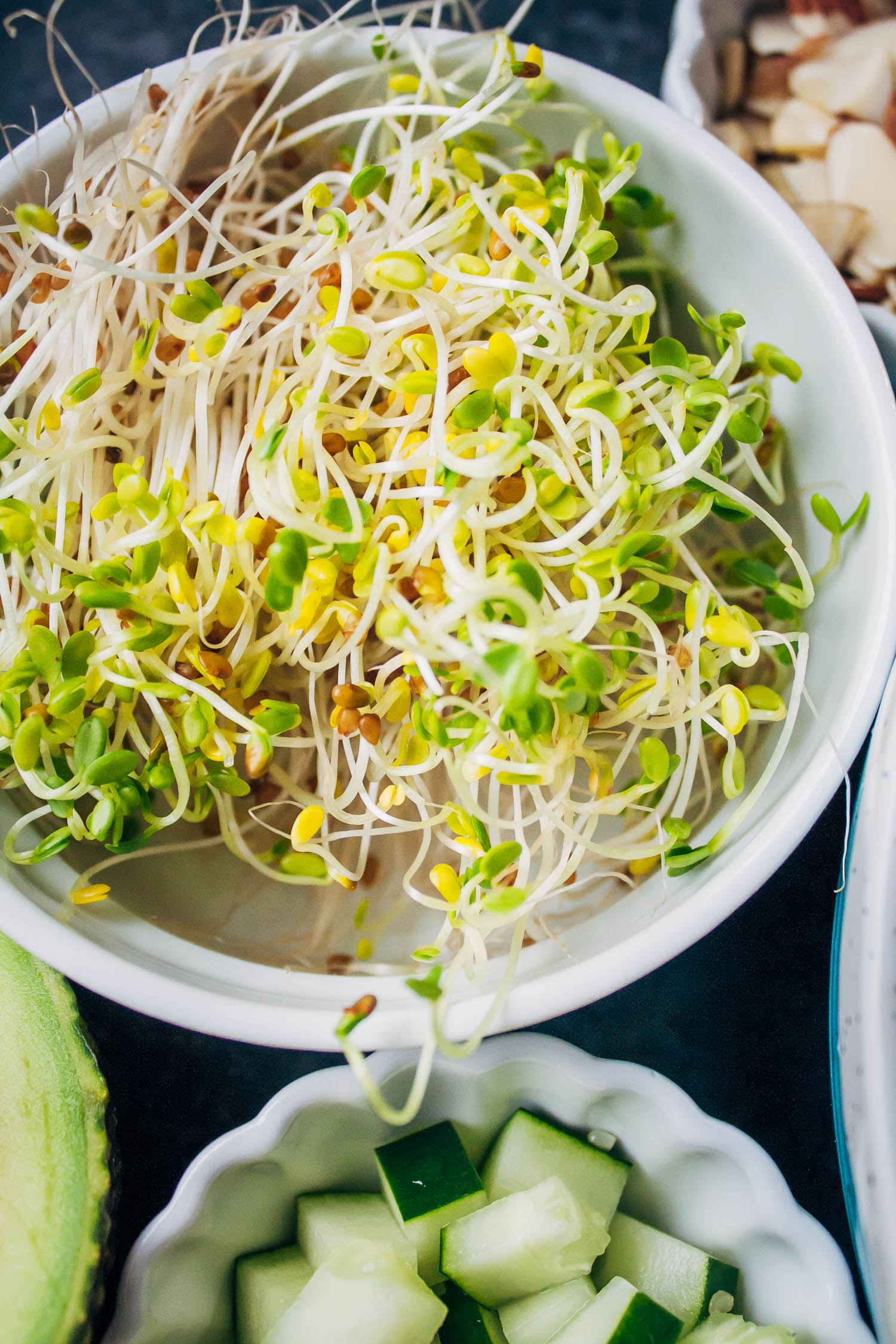 Vegan Kale Chopped Salad | Well and Full | #vegan #salad #recipe
