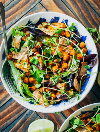 Vegan Southwest Tortilla Salad | Well and Full | #healthy #recipe