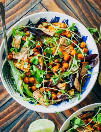 Vegan Southwest Tortilla Salad | Well and Full | #healthy #recipe