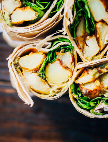 Easy Vegan Potato Wraps | Well and Full | #healthy #vegan #recipe