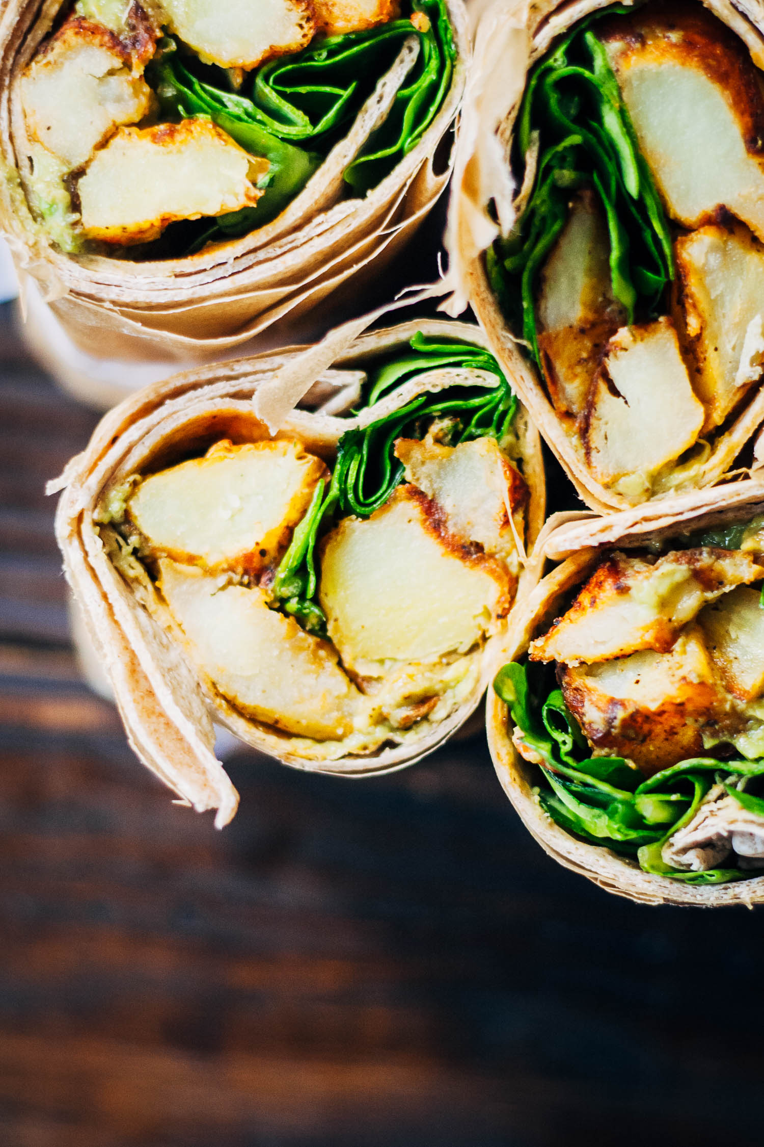 Easy Vegan Potato Wraps | Well and Full | #healthy #vegan #recipe