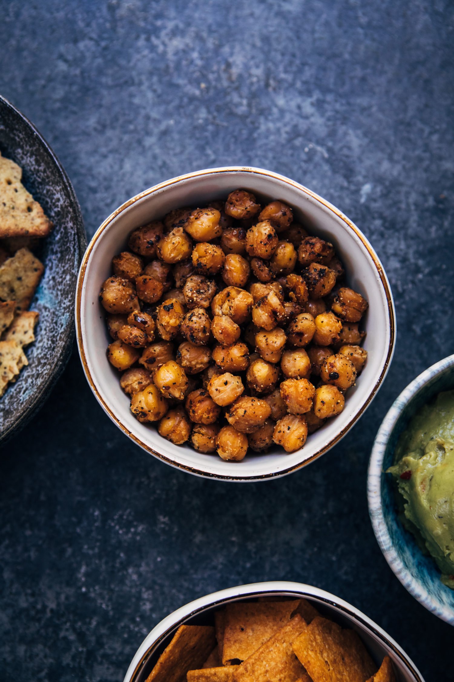 Spicy Chipotle Chickpeas | Well and Full | #vegan #snack #recipe