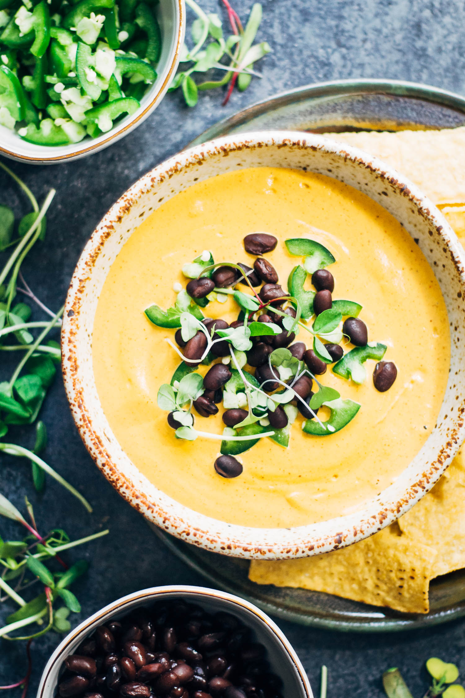 Spicy Vegan Queso | Well and Full | #healthy #vegan #recipe
