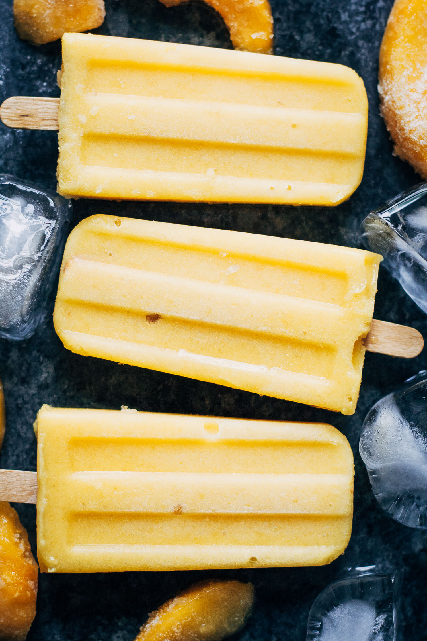 Vegan Sunshine Popsicles | Well and Full | #healthy #summer #recipe
