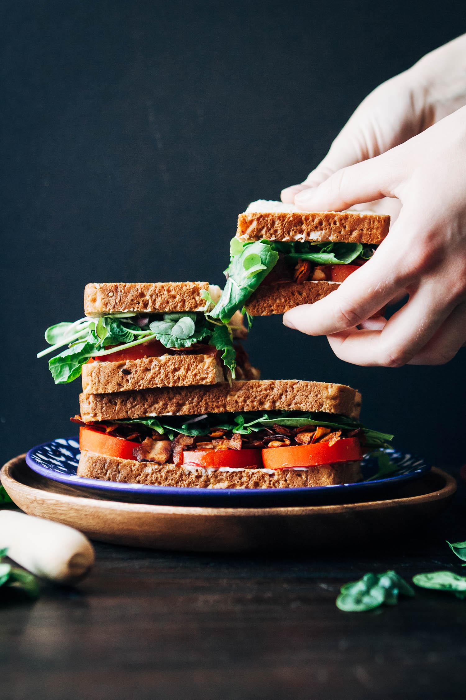 The Vegan BLT | Well and Full | #healthy #vegan #recipe