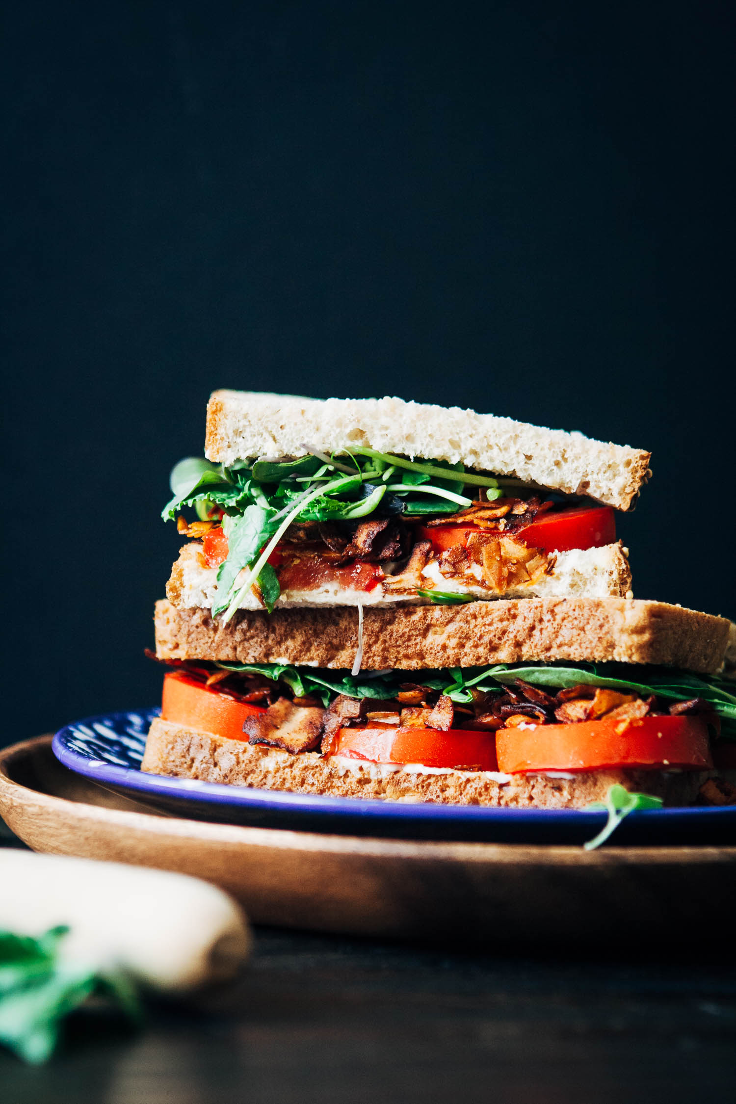 The Vegan BLT | Well and Full | #healthy #vegan #recipe