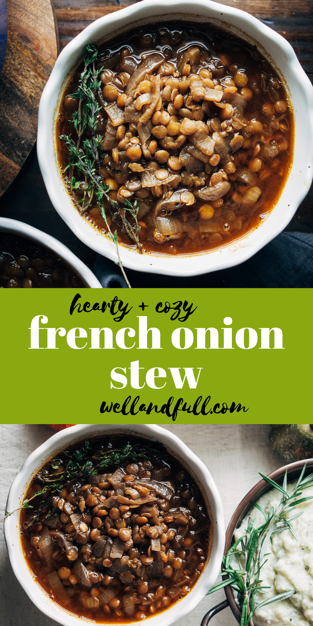 French Onion Stew | Well and Full | #healthy #vegan #recipe