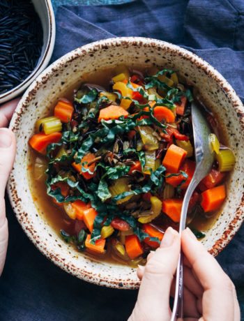 Vegan Wild Rice Soup | Well and Full | #healthy #vegan #recipe