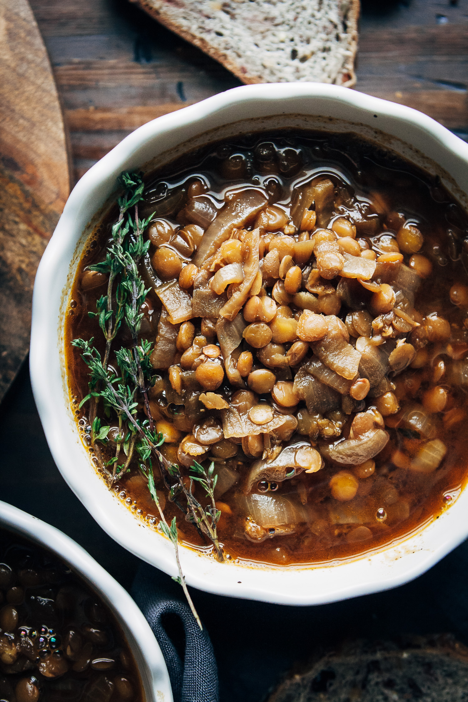 Vegan French Onion Stew | Well and Full | #healthy #vegan #recipe