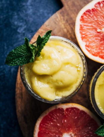 Grapefruit Detox Smoothie | Well and Full | #healthy #vegan #recipe