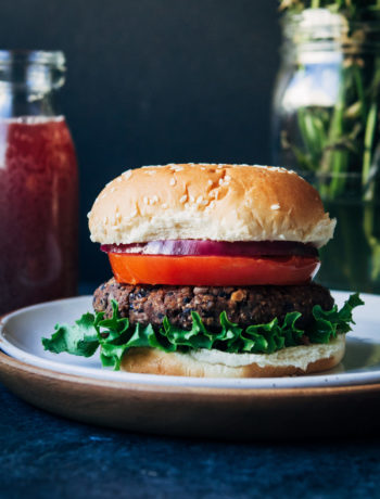 Vegan Black Bean Burgers | Well and Full | #healthy #vegan #recipe