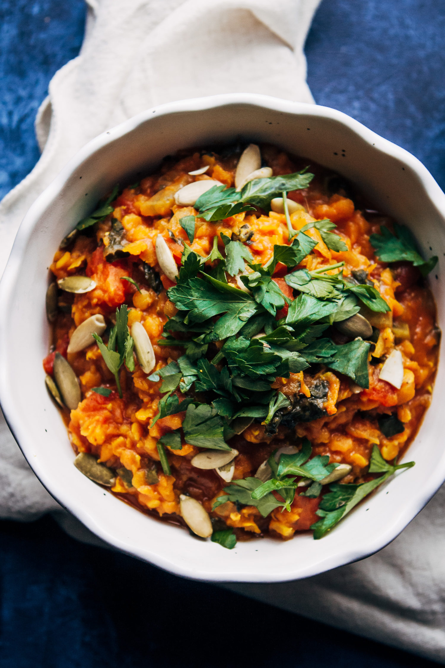 Vegan Red Lentil Detox Soup | Well and Full | #healthy #vegan #recipe