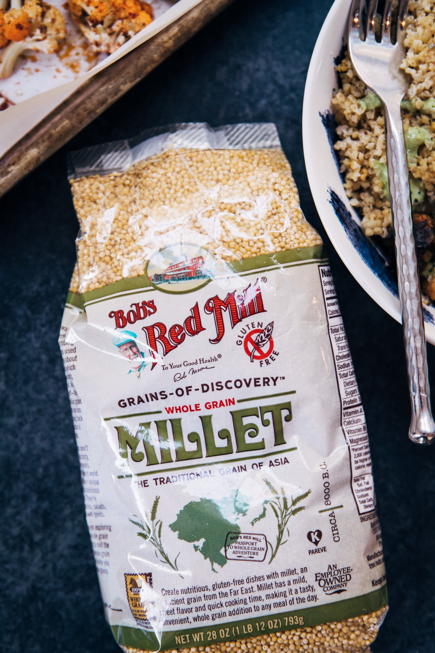 Vegan Millet Bowl w/ Jalapeño Tahini | Well and Full | #healthy #vegan #recipe