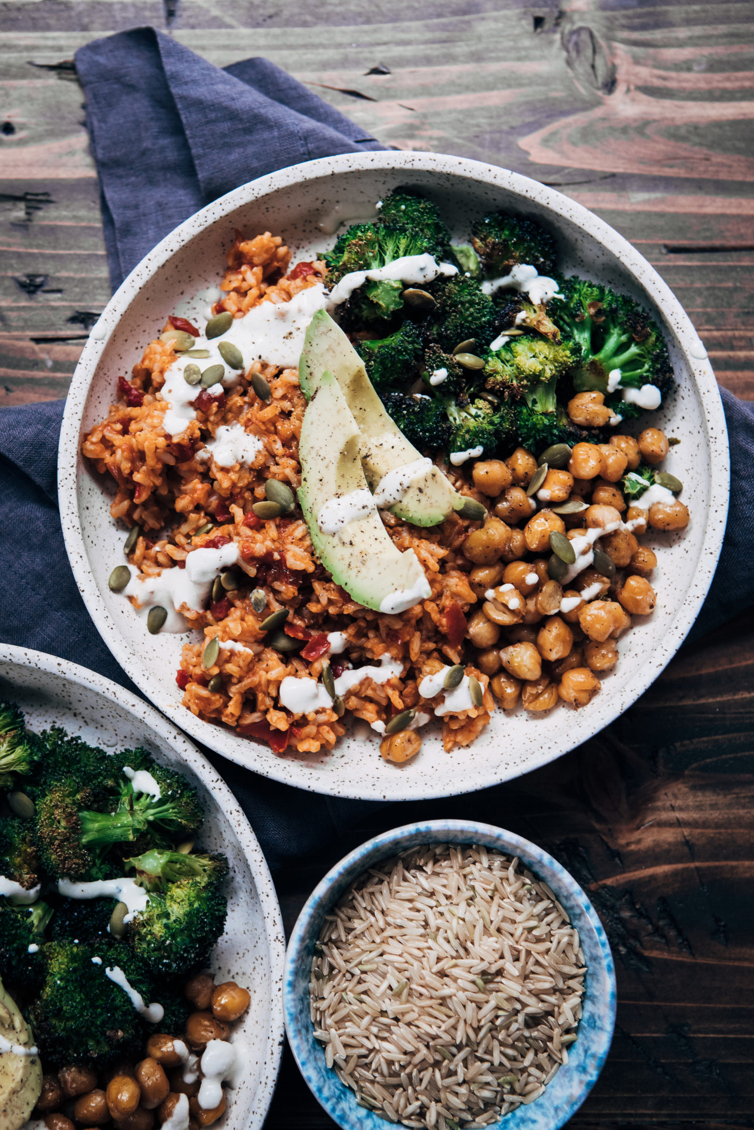 Spicy Vegan Rice Bowl | Well and Full | #vegan #recipe