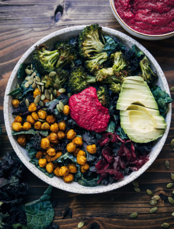 Rainbow Broccoli Buddha Bowl | Well and Full | #vegan #recipe