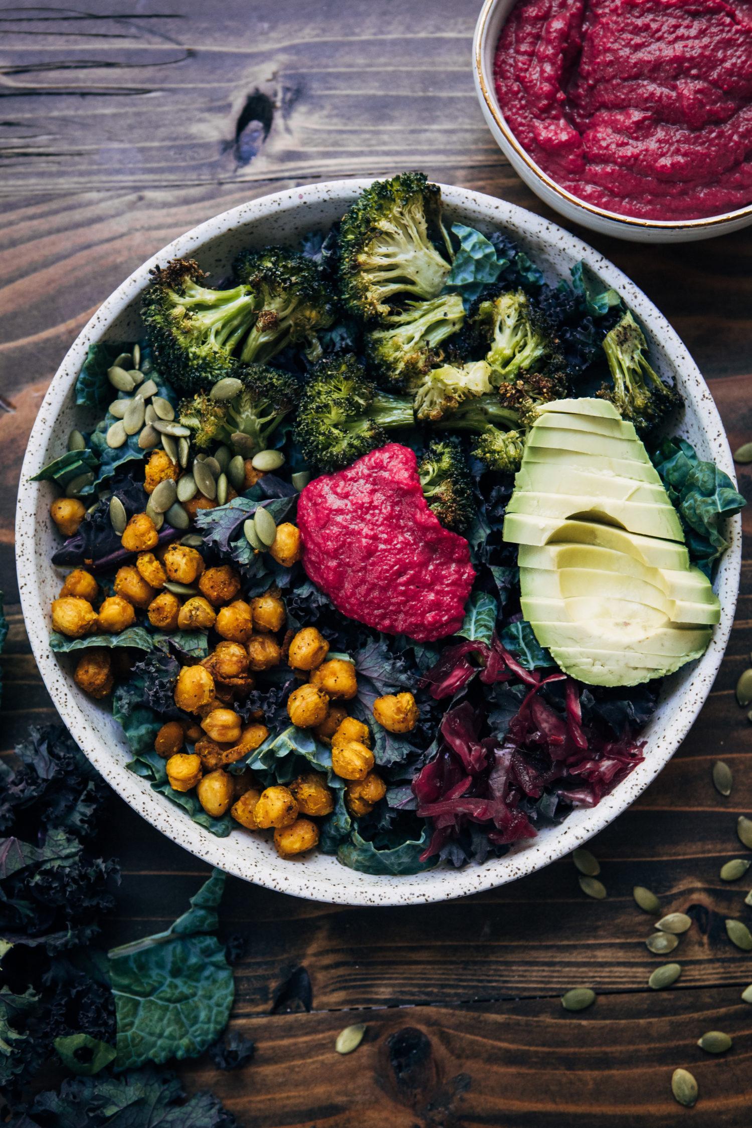 Rainbow Broccoli Buddha Bowl | Well and Full | #vegan #recipe