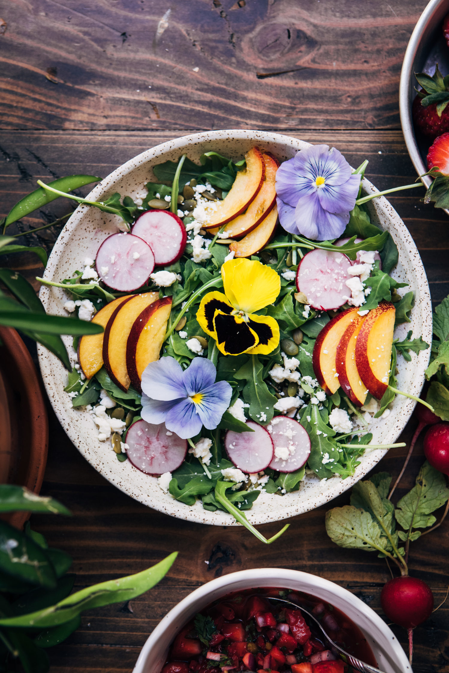 Flower Garden Salad | Well and Full | #flowers #botanical #salad