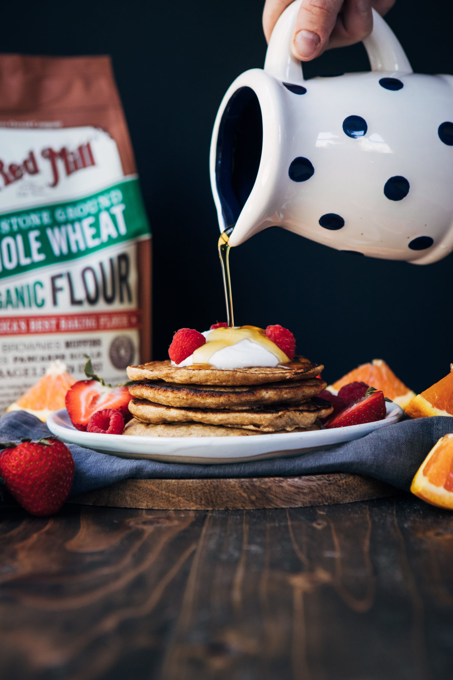 Orange Juice Pancakes | Well and Full | #vegan #breakfast #recipe