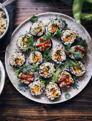 Vegan Sweet Potato Sushi | Well and Full | #vegan #recipe